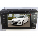 Double Din Mazda 3 DVD GPS 7 Inch Digital Screen with TV FM Steering Wheel Control