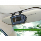 Sunvisor Bluetooth Car Kit LCM Screen Built-in Battery Handsfree with Wireless Earphone